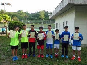 第35回福島県春季ジュニアテニス選手権大会U14男子ダブルス入賞者