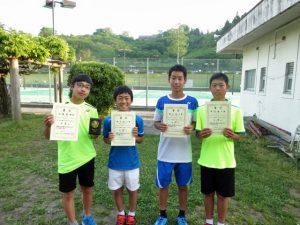 第35回福島県春季ジュニアテニス選手権大会U14男子シングルス入賞者