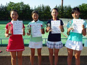 第32回福島県春季中学生テニス選手権大会女子シングルス入賞者