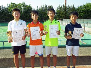 第32回福島県春季中学生テニス選手権大会男子シングルス入賞者