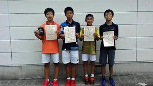 日植杯'18RSK全国選抜ジュニアテニス選手権福島県予選男子シングルス入賞者