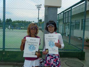 第71回福島県総合体育大会テニス競技40歳以上女子ダブルス優勝