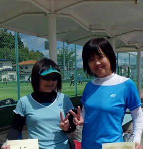 第71回福島県総合体育大会テニス競技55歳以上女子ダブルス優勝