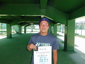 第71回福島県総合体育大会テニス競技35歳以上男子ダブルス優勝