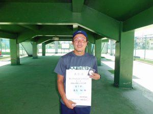第71回福島県総合体育大会テニス競技35歳以上男子シングルス優勝