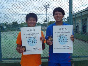 第71回福島県総合体育大会テニス競技一般男子ダブルス優勝