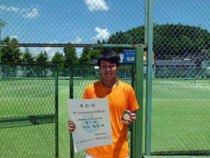 第71回福島県総合体育大会テニス競技一般の部一般男子シングルス優勝