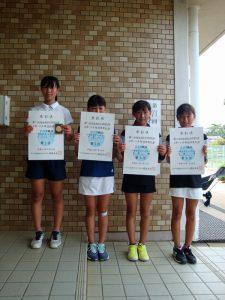 第71回福島県総合体育大会テニス競技スポーツ少年団の部小学生女子シングルス入賞者