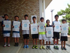第71回福島県総合体育大会テニス競技スポーツ少年団の部小学生男子ダブルス入賞者