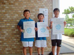 第71回福島県総合体育大会テニス競技スポーツ少年団の部小学生男子シングルス入賞者