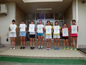 第71回福島県総合体育大会テニス競技スポーツ少年団の部中学生女子ダブルス入賞者