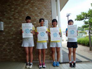 第71回福島県総合体育大会テニス競技スポーツ少年団の部中学生女子シングルス入賞者