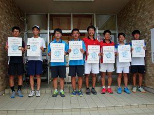 第71回福島県総合体育大会テニス競技スポーツ少年団の部中学生男子ダブルス入賞者
