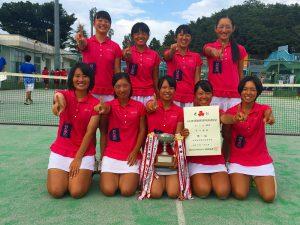 第52回福島県高校新人テニス選手権大会女子団体7人制優勝