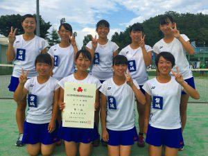 第52回福島県高校新人テニス選手権大会女子団体7人制2位