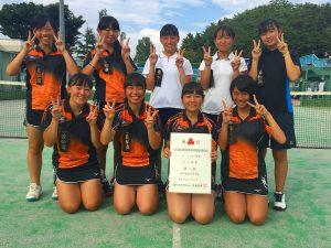 第52回福島県高校新人テニス選手権大会女子団体7人制3位