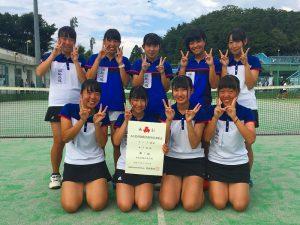 第52回福島県高校新人テニス選手権大会女子団体7人制4位
