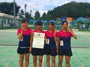 第52回福島県高校新人テニス選手権大会女子団体4人制優勝