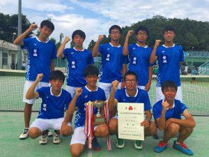 第52回福島県高校新人テニス選手権大会男子団体7人制優勝