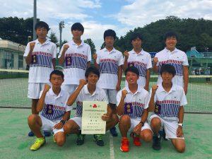 第52回福島県高校新人テニス選手権大会男子団体7人制2位