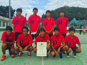 第52回福島県高校新人テニス選手権大会男子団体7人制3位