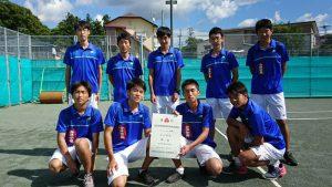 第52回福島県高校新人テニス選手権大会男子団体7人制4位