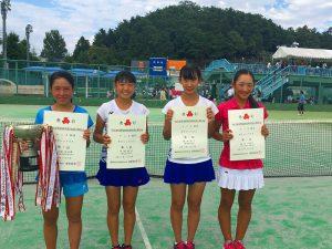 第52回福島県高校新人テニス選手権大会女子シングルス入賞者