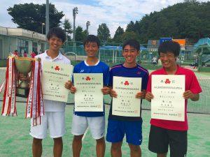 第52回福島県高校新人テニス選手権大会男子シングルス入賞者