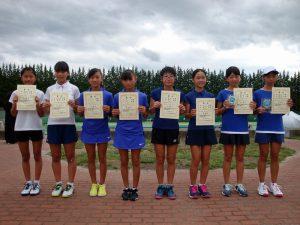 第32回福島県秋季小学生テニス選手権大会女子ダブルス入賞者