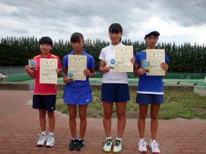 第32回福島県秋季小学生テニス選手権大会女子シングルス入賞者