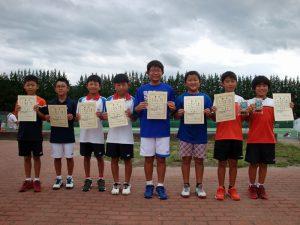 第32回福島県秋季小学生テニス選手権大会男子ダブルス入賞者