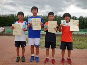 第32回福島県秋季小学生テニス選手権大会男子シングルス入賞者