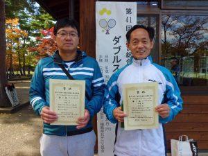 第41回あづま総合運動公園庭球場オープン記念ダブルステニス大会45歳以上男子ダブルス優勝