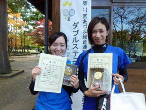 第41回あづま総合運動公園庭球場オープン記念ダブルステニス大会一般女子ダブルス優勝