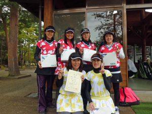 第60回福島県クラブ対抗テニス大会女子の部優勝
