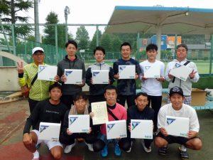 第60回福島県クラブ対抗テニス大会男子の部優勝