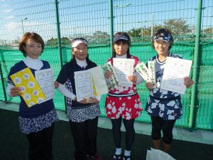 第41回福島県秋季ダブルステニス選手権大会45歳以上女子ダブルス入賞者