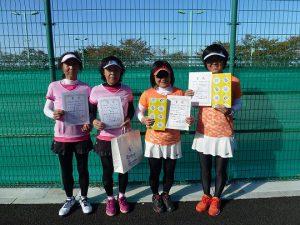 第41回福島県秋季ダブルステニス選手権大会55歳以上女子ダブルス入賞者