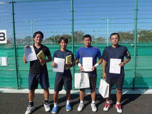 第41回福島県秋季ダブルステニス選手権大会一般男子ダブルス入賞者