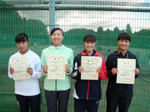 第7回福島空港公園秋季選抜ジュニアシングルステニス選手権大会女子入賞者