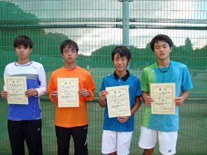 第7回福島空港公園秋季選抜ジュニアシングルステニス選手権大会男子入賞者