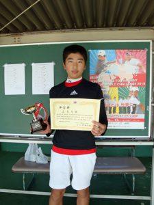 MUFGジュニアテニストーナメント2018福島県大会男子入賞者