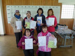 第45回福島県ダブルステニス選手権大会女子40歳、50歳の部入賞者