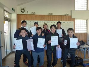 第45回福島県ダブルステニス選手権大会一般の部入賞者