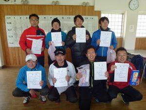第45回福島県ダブルステニス選手権大会男子35歳の部入賞者