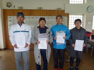 第45回福島県ダブルステニス選手権大会男子45歳の部入賞者