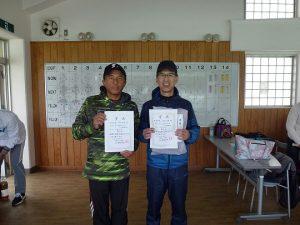第45回福島県ダブルステニス選手権大会男子55歳の部入賞者