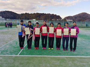 第45回福島県ダブルステニス選手権大会ジュニアの部女子入賞者