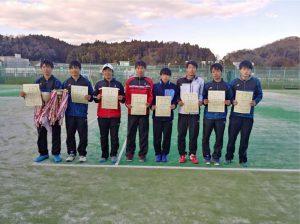 第45回福島県ダブルステニス選手権大会ジュニアの部男子入賞者