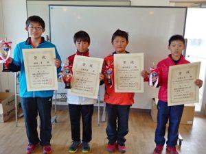 第38回福島県春季選抜ジュニアシングルス選手権大会U12男子シングルス入賞者
